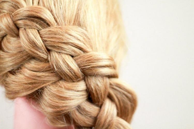 Косички на тонкие средние волосы
