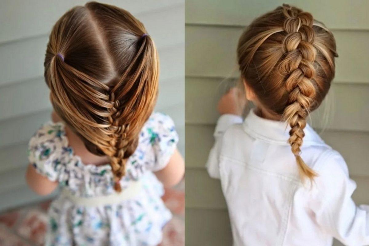 Косы на средние волосы детям
