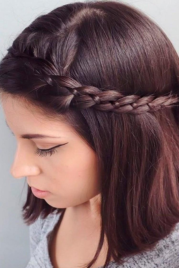 Красивые косы на средние волосы