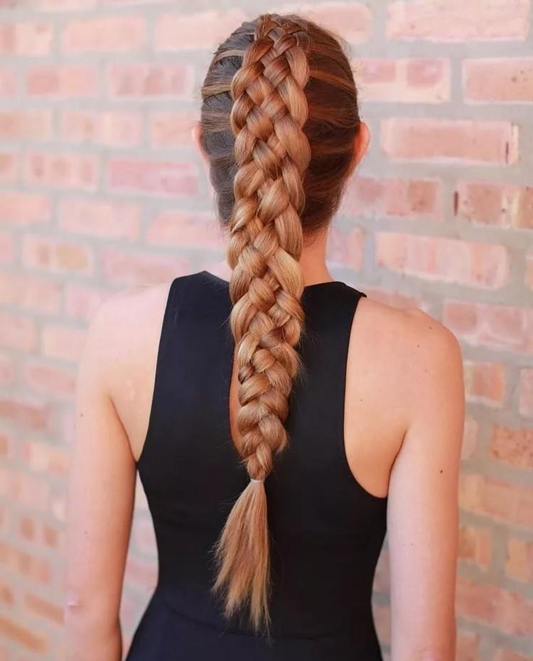 Плетение французских кос из 5 прядей