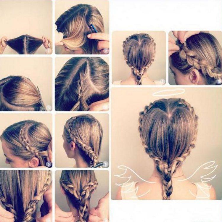 Плетение кос сердечком