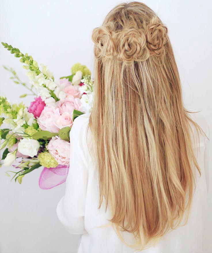 Плетение косичек в виде цветка - фото схема