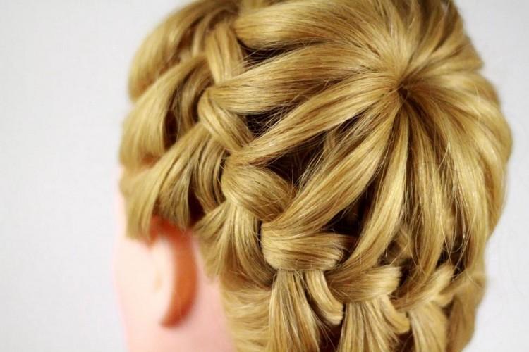 Плетение косы корзинка: видео