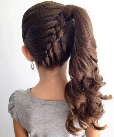 Плетение косы под хвостом