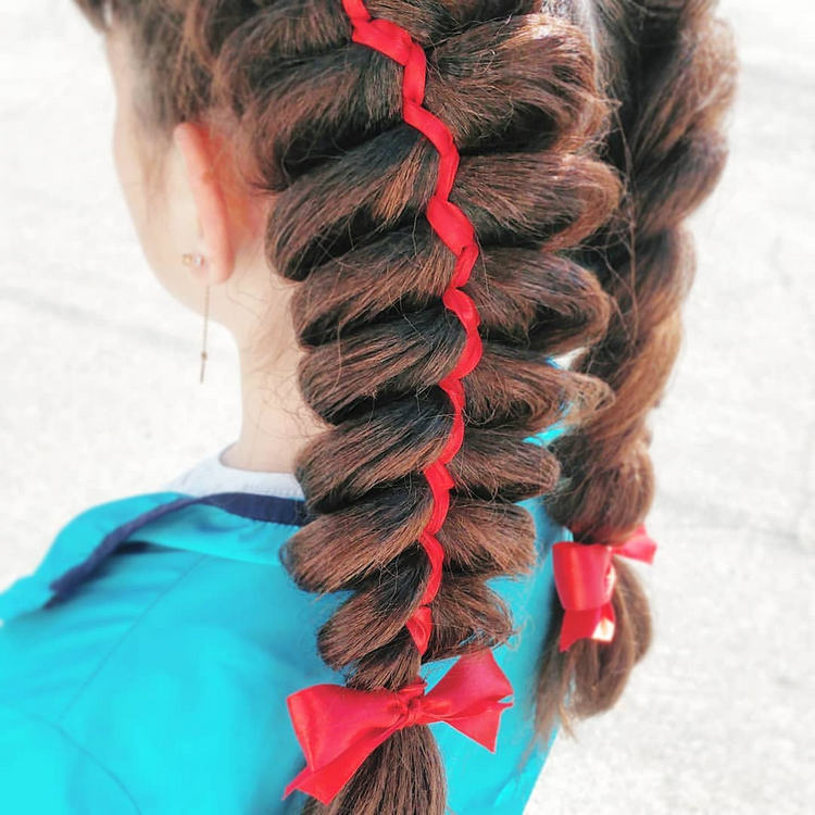 Плетение воздушных кос