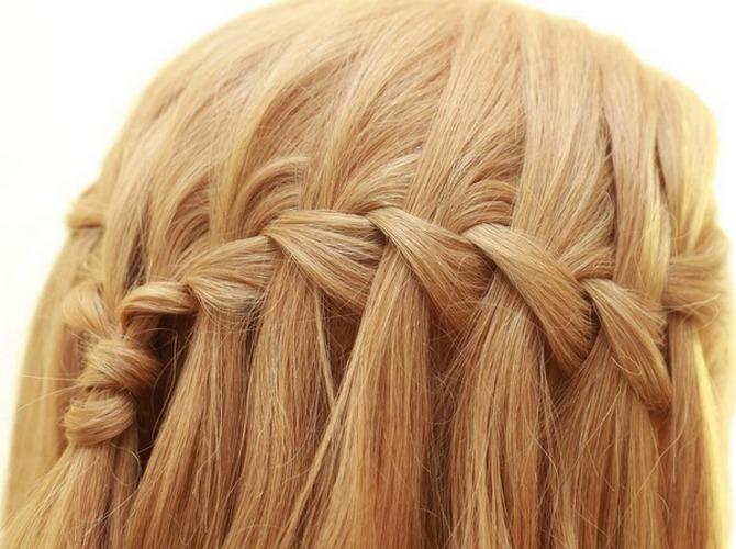 Популярная коса водопад