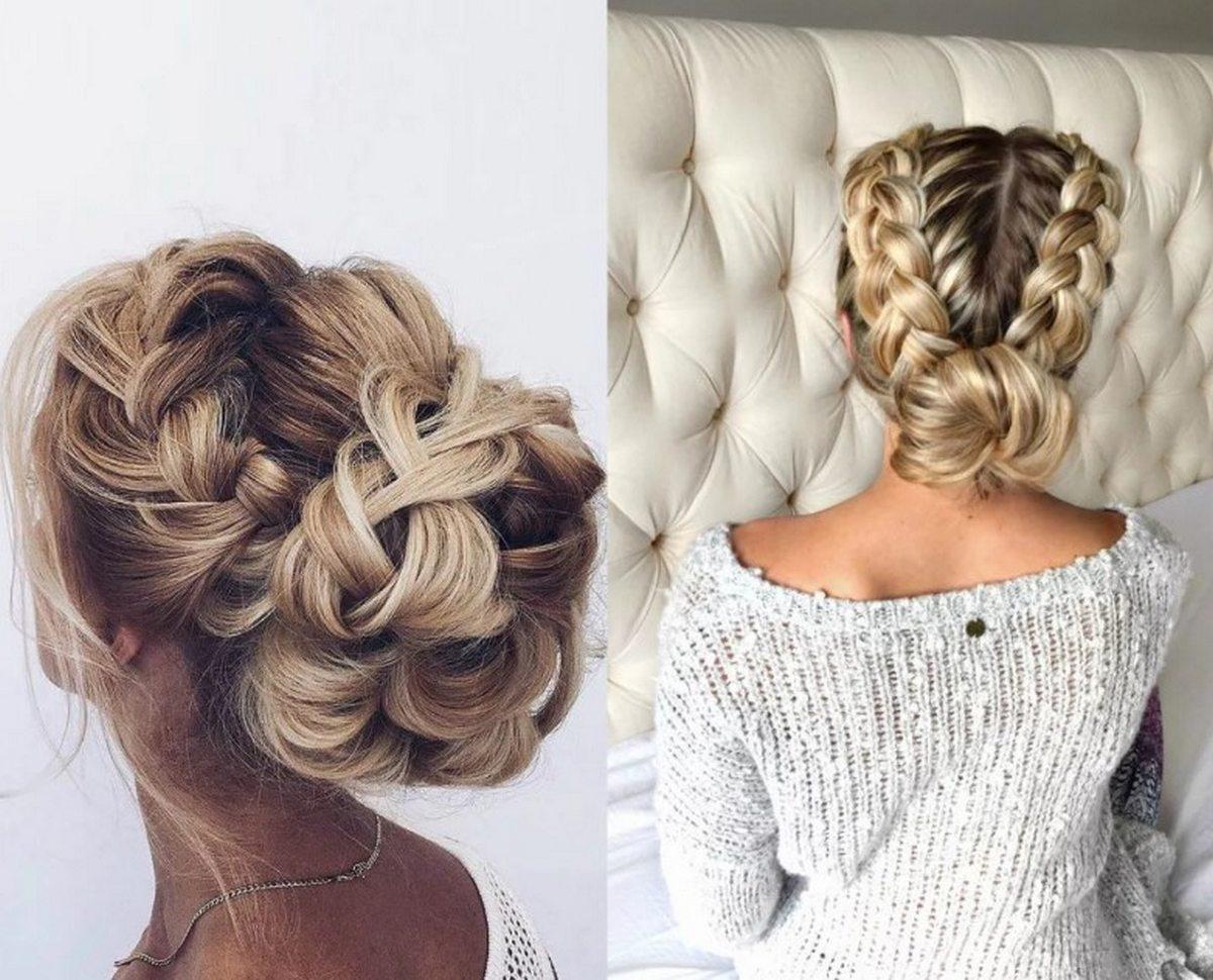 Праздничные прически с косами