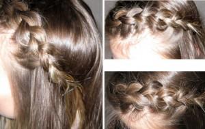 Прически косы с челкой