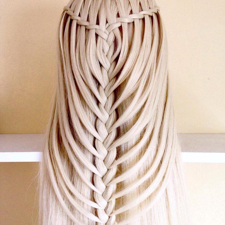 Прически с собранными косами
