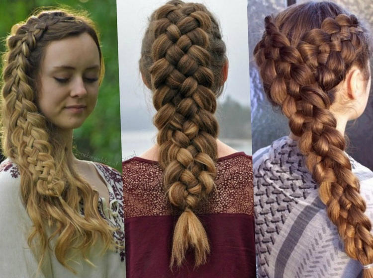 Разновидность пятиярусной косы