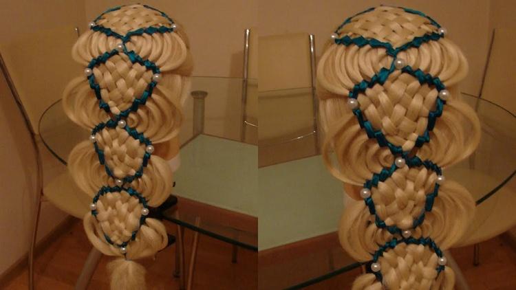 Сдвоенная коса голливудская волна