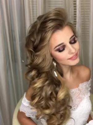 Свадебная коса на бок