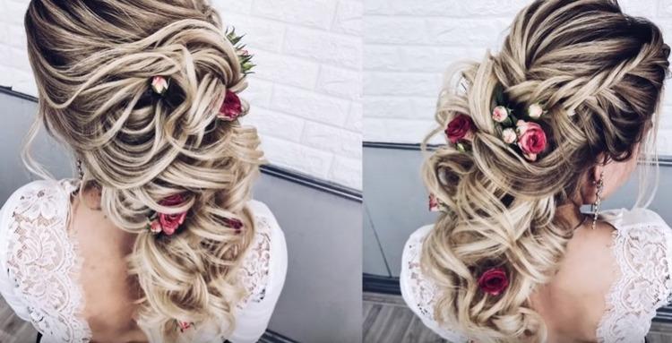 Свадебная коса с видео уроком