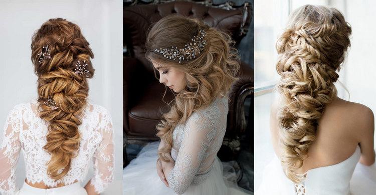 Свадебная прическа на основе косы