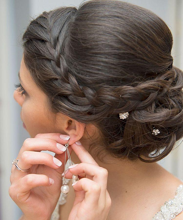 Свадебные косы на средние волосы