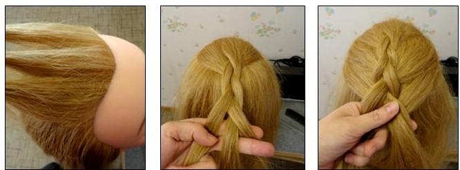 Схема плетения двойной косы