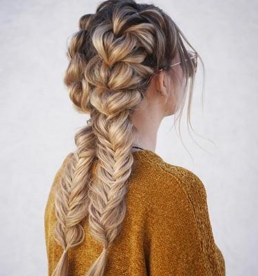 Вечерние прически с косами: фото